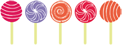 Row of Lollipops