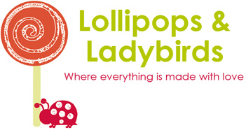 Lollipops and Ladybirds - Where everything is made with love - Logo